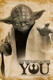 Star Wars - Yoda, May The Force Be With You - Europoster