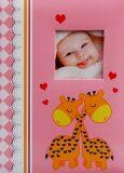 Fotoalbum dětské 300 růžové - Žirafy -