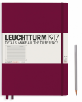 Zápisník Leuchtturm1917 Port Red Pocket linkovaný -