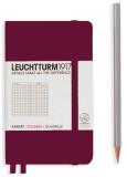 Zápisník Leuchtturm1917 Port Red Pocket čtverečkovaný - Leuchtturm1917