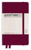 Zápisník Leuchtturm1917 Port Red Pocket tečkovaný -