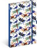Notes Vážky linkovaný - 13 x 21 cm - Presco Group