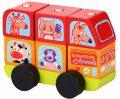 Minibus šťastná zvířátka: dřevěná skládačka 7 dílů - CUBIKA