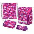 Školní taška Midi - Růžové kostky - vybavený - Herlitz