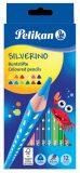Pastelky trojhranné Silverino - 12 barev - Herlitz
