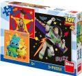 Toy Story 4 - Puzzle 3x55 dílků - Dino Toys
