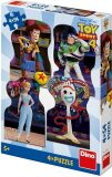 Toy Story 4: Kamarádi Puzzle - 4x54 dílků - Dino Toys