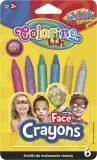 Barvy na obličej metalické v násadce 6 barev - Colorino