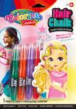 Barevné křídy na vlasy pastelové v násadce 5 barev - Colorino