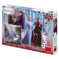 Ledové království II - puzzle 3 x 55 dílků - Dino Toys