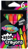 Trojhranné neonové voskovky extra měkké 6 barev - Colorino