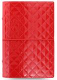 Filofax Diář A6 - Domino Luxe, Osobní, červená - Filofax