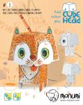 3D Kočka k vymalování - Ditipo