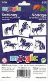 MAGIC papírové šablony na malování KONĚ - Magic šablony