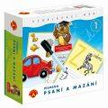 Psaní a mazání 1 PÍSMENKA - vzdělávací didaktická hra v krabici - Alexander