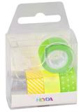 5 ks Páska papírová mini, neon, zelená - KANORG