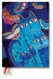 Paperblanks Diář 2021- Blue Cats & Butterflies / midi - neuveden