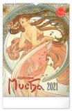 Nástěnný kalendář Alfons Mucha 2021, 33 × 46 cm - Presco Group