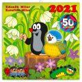 Poznámkový kalendář Krteček 2021, s 50 samolepkami, 30 × 30 cm - Presco Group