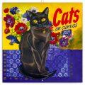 Kalendář 2021 poznámkový: Kočky na plátně, 30 × 30 cm - Presco Group