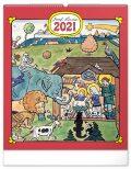 Nástěnný kalendář Josef Lada – Zvířátka 2021, 48 × 56 cm - Presco Group