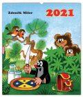 Nástěnný kalendář Krteček 2021, 48 × 56 cm - Presco Group