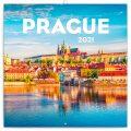 Poznámkový kalendář Praha letní 2021, 30 × 30 cm - Presco Group