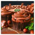 Poznámkový kalendář Čokoláda 2021, voňavý, 30 × 30 cm - Presco Group