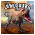Poznámkový kalendář Dinosauři 2021, 30 × 30 cm - Presco Group