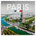Poznámkový kalendář Paříž 2021, 30 × 30 cm - Presco Group