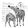 Cadence šablona kolekce HomeDeco 25x25 cm - zebry - Cadence