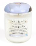 Svíčka Heart & Home - Svěží prádlo (115 g) - Heart & Home