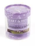 Svíčka Heart & Home bez obalu - Levandule a šalvěj (52 g) - Heart & Home