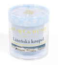 Svíčka Heart & Home bez obalu - Lázeňská koupel (52 g) -