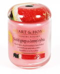 Svíčka Heart & Home - Svěží grep a černý rybíz (340 g) -