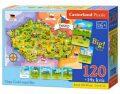 Puzzle mapa Česká republika 120 dílků + 14x kvíz - SMT Creatoys