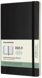 Moleskine: Plánovací zápisník 2020-2021 měkký černý L - Moleskine