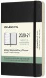 Moleskine: Plánovací zápisník 2020-2021 měkký černý S - Moleskine