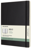 Moleskine: Plánovací zápisník 2020-2021 měkký černý XL - Moleskine