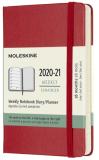 Moleskine: Plánovací zápisník 2020-2021 tvrdý červený S - Moleskine
