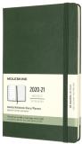 Moleskine: Plánovací zápisník 2020-2021 tvrdý zelený L - Moleskine