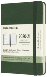 Moleskine: Plánovací zápisník 2020-2021 tvrdý zelený S - Moleskine