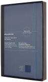 Moleskine Zápisník modrý L kožený, linkovaný, tvrdý - Moleskine