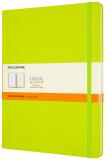 Moleskine: Zápisník tvrdý linkovaný žlutozelený XL - Moleskine