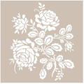 Cadence šablona 21x30 cm - růžičky - Cadence