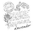 Cadence šablona kolekce HomeDeco 25x25 cm - levandulové psaní - Cadence