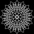 TCW šablona 15,2 x 15,2 cm - Sunflower Mandala - TCW