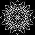 TCW šablona 30,5 x 30,5 cm - Sunflower Mandala - TCW