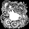 TCW šablona 30,5 x 30,5cm - Floral Statement - TCW