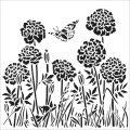 TCW šablona 30,5 x 30,5 cm - Happy Dandelions - TCW